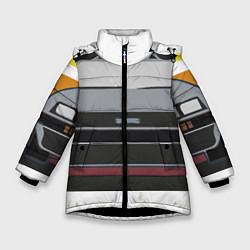 Куртка зимняя для девочки Back to the Future цвета 3D-черный — фото 1