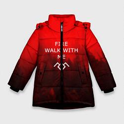 Куртка зимняя для девочки Twin Peaks цвета 3D-черный — фото 1