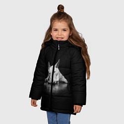 Куртка зимняя для девочки Puppy цвета 3D-черный — фото 2