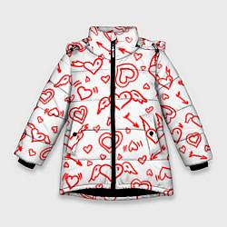 Куртка зимняя для девочки Love flight цвета 3D-черный — фото 1
