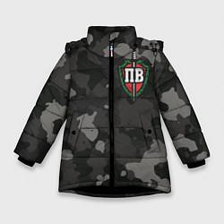 Куртка зимняя для девочки Пограничные войска цвета 3D-черный — фото 1