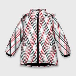 Куртка зимняя для девочки Игральные карты цвета 3D-черный — фото 1