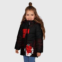 Куртка зимняя для девочки Green day цвета 3D-черный — фото 2