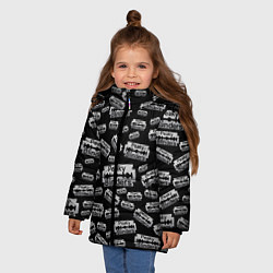 Куртка зимняя для девочки Peaky Blinders Лезвие Паттерн цвета 3D-черный — фото 2