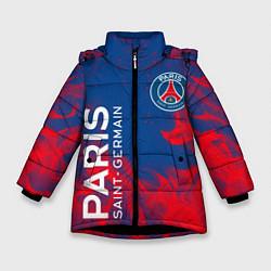 Куртка зимняя для девочки ФК ПСЖ PARIS SAINT GERMAIN цвета 3D-черный — фото 1