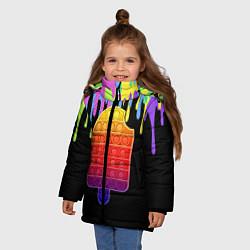 Куртка зимняя для девочки ICE CREAM POP-IT цвета 3D-черный — фото 2