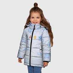 Куртка зимняя для девочки Ojingeo geim - Облака цвета 3D-черный — фото 2