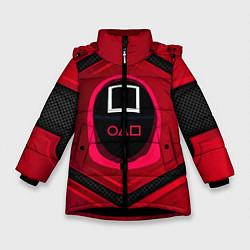 Куртка зимняя для девочки Игра в кальмара: бронь цвета 3D-черный — фото 1