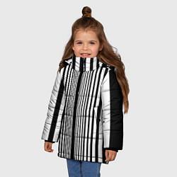Куртка зимняя для девочки Эффект Доплера костюм Шелдона цвета 3D-черный — фото 2