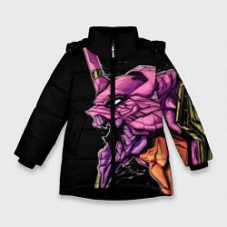 Куртка зимняя для девочки Evangelion Eva 01 цвета 3D-черный — фото 1