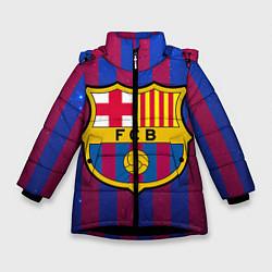 Куртка зимняя для девочки Barcelona цвета 3D-черный — фото 1