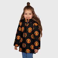 Куртка зимняя для девочки Manchester United Pattern - фото 2