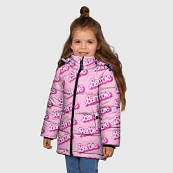 Куртка зимняя для девочки Barbie Pattern цвета 3D-черный — фото 2