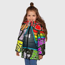 Куртка зимняя для девочки Pink Floyd цвета 3D-черный — фото 2
