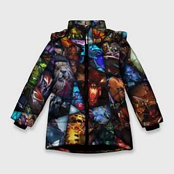Куртка зимняя для девочки Dota 2: All Pick цвета 3D-черный — фото 1