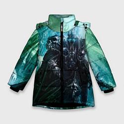 Куртка зимняя для девочки Король Лич цвета 3D-черный — фото 1