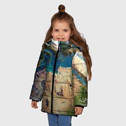 Куртка зимняя для девочки Земля цвета 3D-черный — фото 2