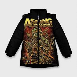 Куртка зимняя для девочки Asking Alexandria цвета 3D-черный — фото 1
