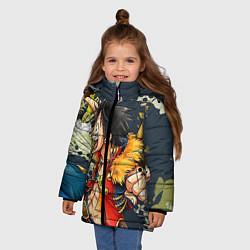 Куртка зимняя для девочки One Piece цвета 3D-черный — фото 2