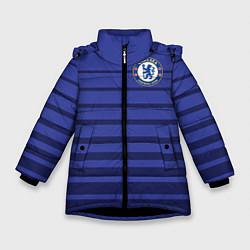 Куртка зимняя для девочки Chelsea: Drogba цвета 3D-черный — фото 1