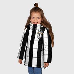 Куртка зимняя для девочки Juventus: Vidal цвета 3D-черный — фото 2