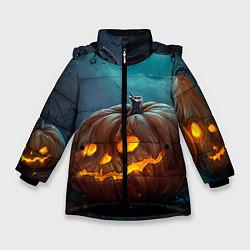 Куртка зимняя для девочки Тыква цвета 3D-черный — фото 1