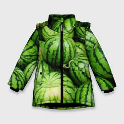 Куртка зимняя для девочки Арбузы цвета 3D-черный — фото 1