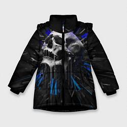 Куртка зимняя для девочки Череп цвета 3D-черный — фото 1
