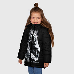 Детская зимняя куртка для девочки с принтом BMTH: Skull Pray, цвет: 3D-черный, артикул: 10073642906065 — фото 2