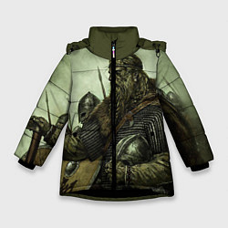 Куртка зимняя для девочки Ватага цвета 3D-черный — фото 1