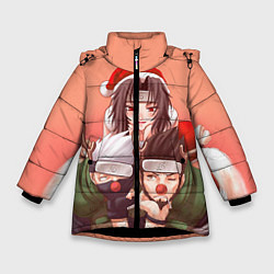 Куртка зимняя для девочки Аниме цвета 3D-черный — фото 1
