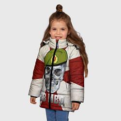 Куртка зимняя для девочки Череп: ВВ МВД цвета 3D-черный — фото 2