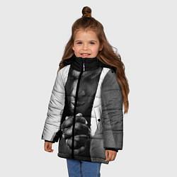 Куртка зимняя для девочки Майк Тайсон цвета 3D-черный — фото 2