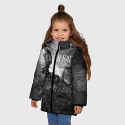 Куртка зимняя для девочки Black Veil Brides: Faithless цвета 3D-черный — фото 2