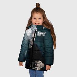 Куртка зимняя для девочки Armin Van Buuren цвета 3D-черный — фото 2