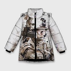 Куртка зимняя для девочки ФСБ Альфа цвета 3D-черный — фото 1