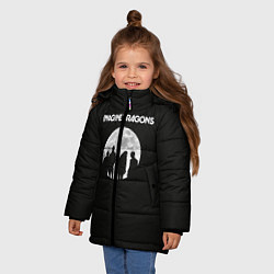 Детская зимняя куртка для девочки с принтом Imagine Dragons: Moon, цвет: 3D-черный, артикул: 10078925606065 — фото 2