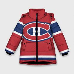 Куртка зимняя для девочки Montreal Canadiens цвета 3D-черный — фото 1