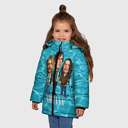 Куртка зимняя для девочки Nirvana: Water цвета 3D-черный — фото 2