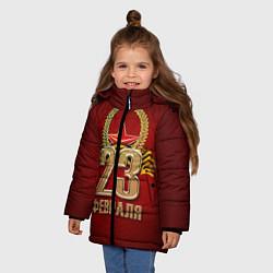 Куртка зимняя для девочки 23 февраля цвета 3D-черный — фото 2