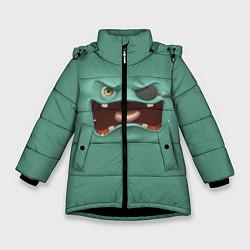 Куртка зимняя для девочки Пластилиновый смайл цвета 3D-черный — фото 1