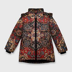 Куртка зимняя для девочки Модный ковер цвета 3D-черный — фото 1
