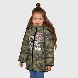 Куртка зимняя для девочки Любимый защитник цвета 3D-черный — фото 2