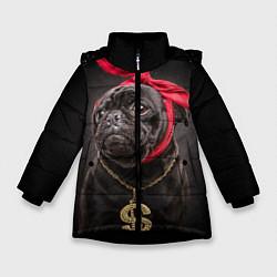 Куртка зимняя для девочки Money Mops цвета 3D-черный — фото 1