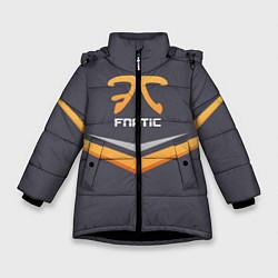 Куртка зимняя для девочки Fnatic Arrows цвета 3D-черный — фото 1