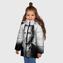 Куртка зимняя для девочки Бенедикт Камбербэтч цвета 3D-черный — фото 2
