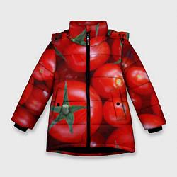 Куртка зимняя для девочки Томатная цвета 3D-черный — фото 1