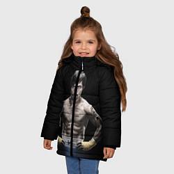 Куртка зимняя для девочки Мэнни Пакьяо цвета 3D-черный — фото 2