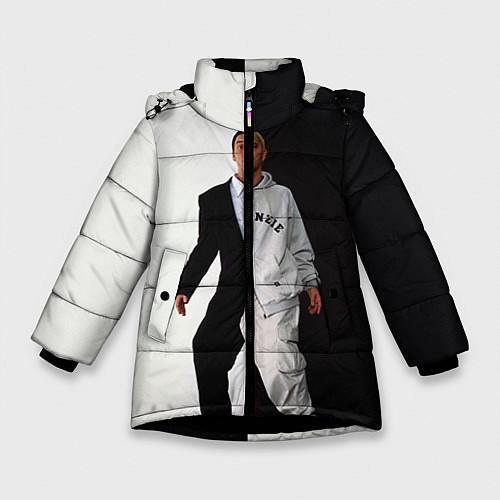 Зимняя куртка для девочки Eminem: Black & White / 3D-Черный – фото 1