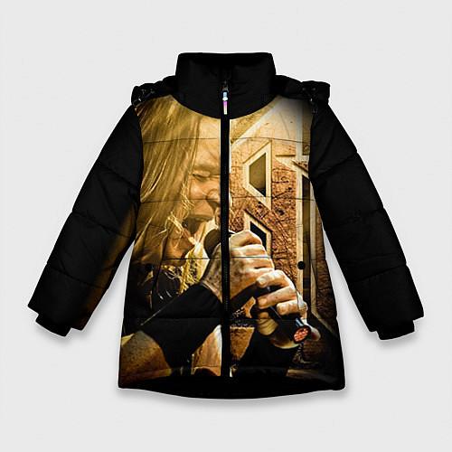 Зимняя куртка для девочки Кипелов: Ария / 3D-Черный – фото 1
